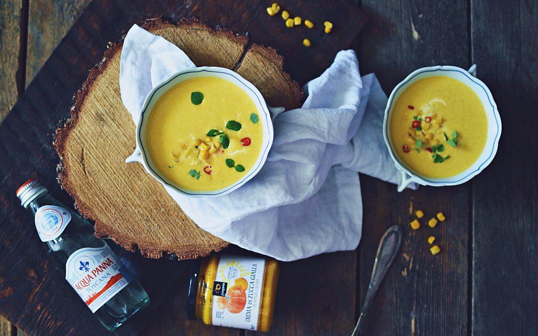 Zupa-krem dyniowo kukurydziana